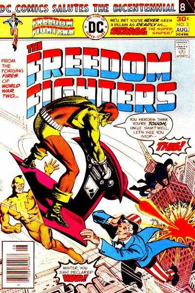 Freedom Fighters #3 Comic Books - Covers, Scans, Photos  in Freedom Fighters Comic Books - Covers, Scans, Gallery