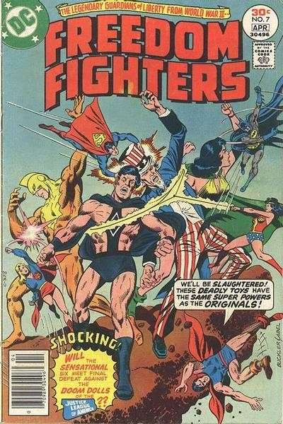 Freedom Fighters #7 Comic Books - Covers, Scans, Photos  in Freedom Fighters Comic Books - Covers, Scans, Gallery