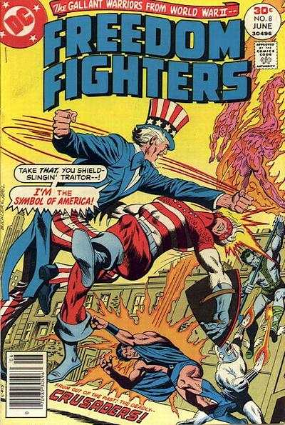 Freedom Fighters #8 comic books - cover scans photos Freedom Fighters #8 comic books - covers, picture gallery