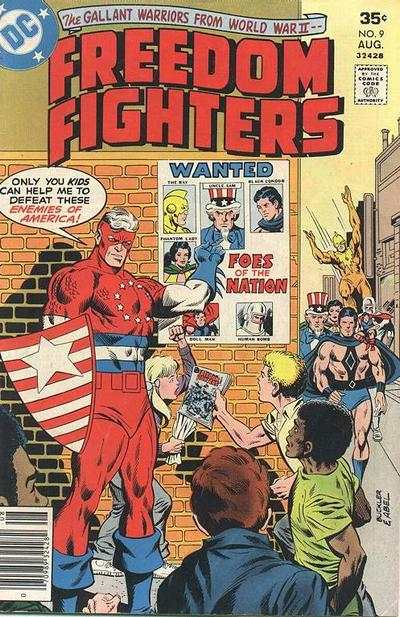 Freedom Fighters #9 Comic Books - Covers, Scans, Photos  in Freedom Fighters Comic Books - Covers, Scans, Gallery