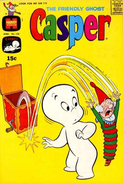 Friendly Ghost Casper #152 Comic Books - Covers, Scans, Photos  in Friendly Ghost Casper Comic Books - Covers, Scans, Gallery