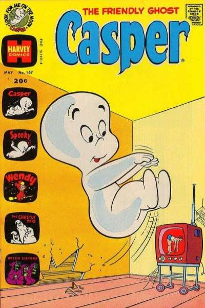 Friendly Ghost Casper #167 Comic Books - Covers, Scans, Photos  in Friendly Ghost Casper Comic Books - Covers, Scans, Gallery