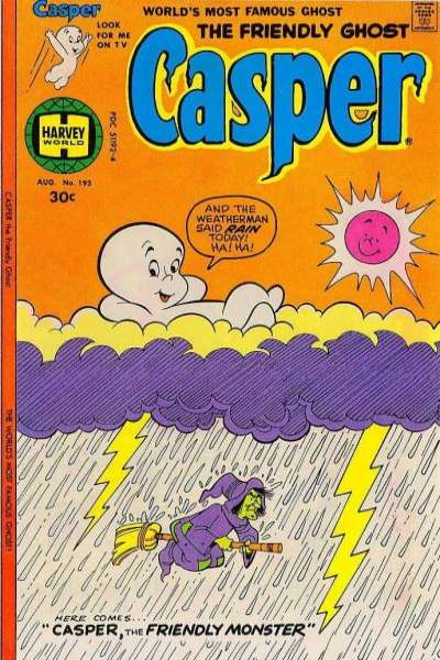 Friendly Ghost Casper #193 Comic Books - Covers, Scans, Photos  in Friendly Ghost Casper Comic Books - Covers, Scans, Gallery