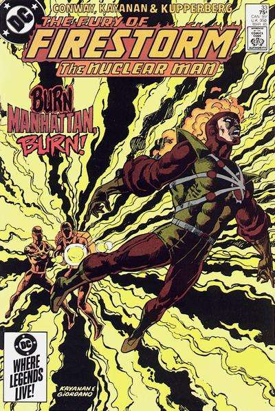 Fury of Firestorm #33 Comic Books - Covers, Scans, Photos  in Fury of Firestorm Comic Books - Covers, Scans, Gallery