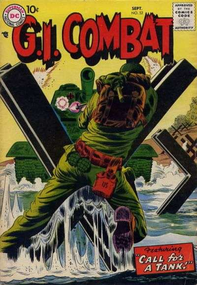 G.I. Combat #52 Comic Books - Covers, Scans, Photos  in G.I. Combat Comic Books - Covers, Scans, Gallery