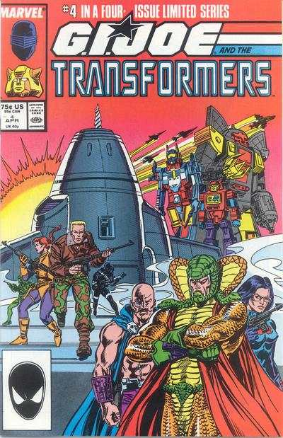 G.I. Joe and the Transformers #4 comic books - cover scans photos G.I. Joe and the Transformers #4 comic books - covers, picture gallery