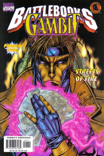 Gambit Battlebooks: Streets of Fire #1 comic books - cover scans photos Gambit Battlebooks: Streets of Fire #1 comic books - covers, picture gallery