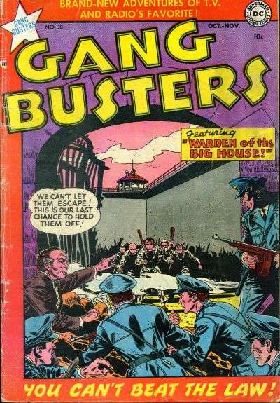 Gang Busters #30 comic books for sale