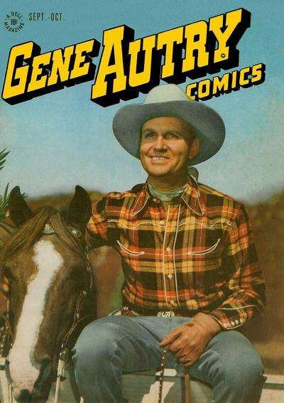 Gene Autry Comics #9 comic books - cover scans photos Gene Autry Comics #9 comic books - covers, picture gallery