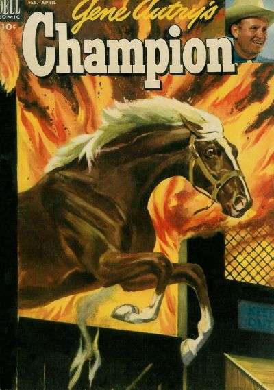Gene Autry's Champion #9 Comic Books - Covers, Scans, Photos  in Gene Autry's Champion Comic Books - Covers, Scans, Gallery