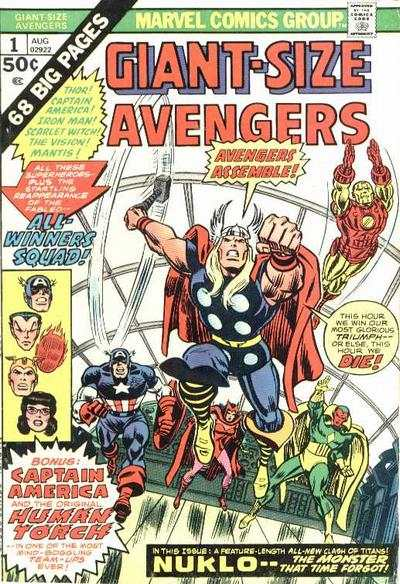 Giant-Size Avengers comic books