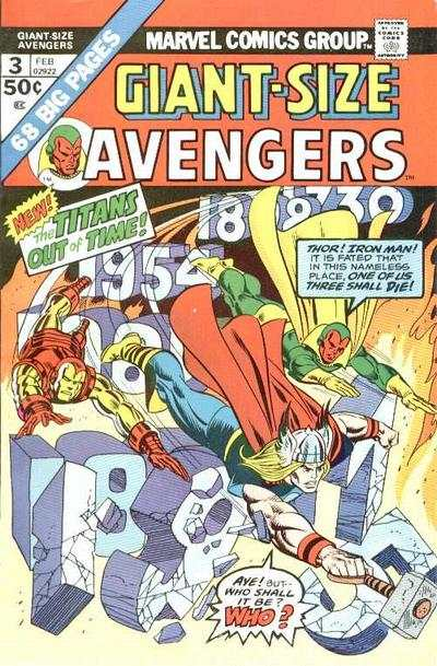 Giant-Size Avengers #3 comic books - cover scans photos Giant-Size Avengers #3 comic books - covers, picture gallery