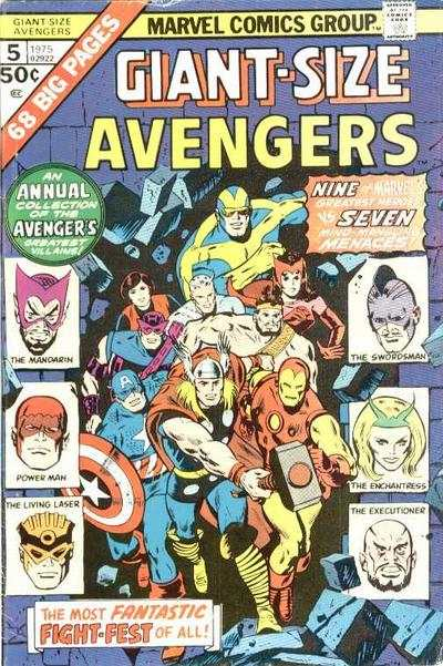 Giant-Size Avengers #5 comic books - cover scans photos Giant-Size Avengers #5 comic books - covers, picture gallery