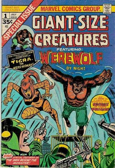 Giant-Size Creatures Comic Books. Giant-Size Creatures Comics.