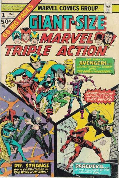 Giant-Size Marvel Triple Action Comic Books. Giant-Size Marvel Triple Action Comics.