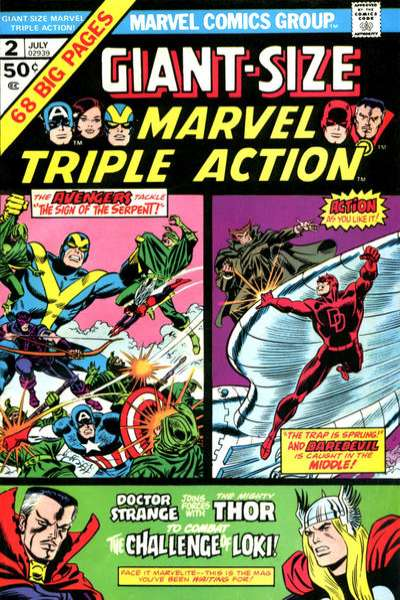 Giant-Size Marvel Triple Action #2 comic books for sale