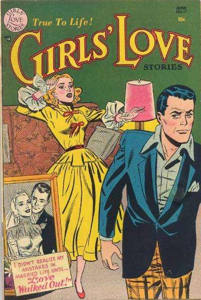 Girls' Love Stories #17 Comic Books - Covers, Scans, Photos  in Girls' Love Stories Comic Books - Covers, Scans, Gallery