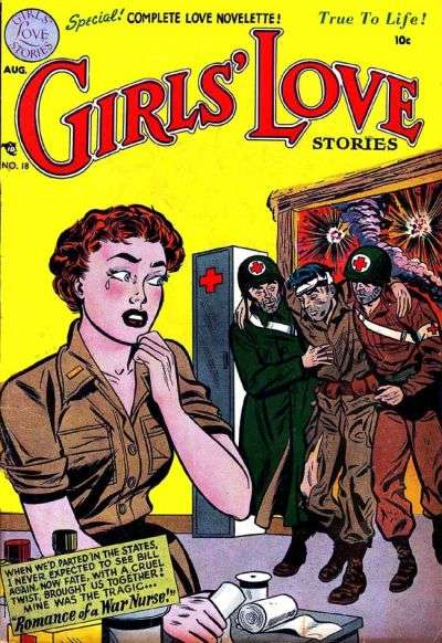 Girls' Love Stories #18 comic books - cover scans photos Girls' Love Stories #18 comic books - covers, picture gallery