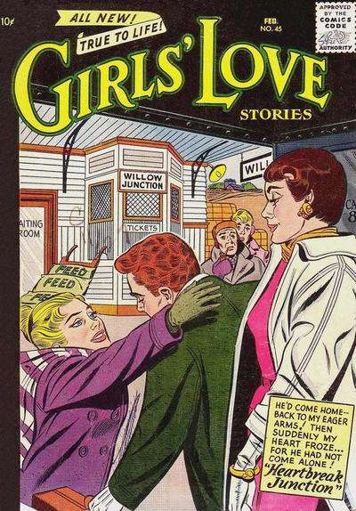 Girls' Love Stories #45 comic books for sale