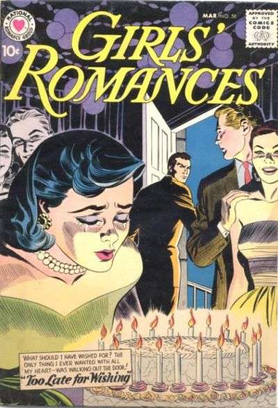 Girls' Romances #58 comic books for sale