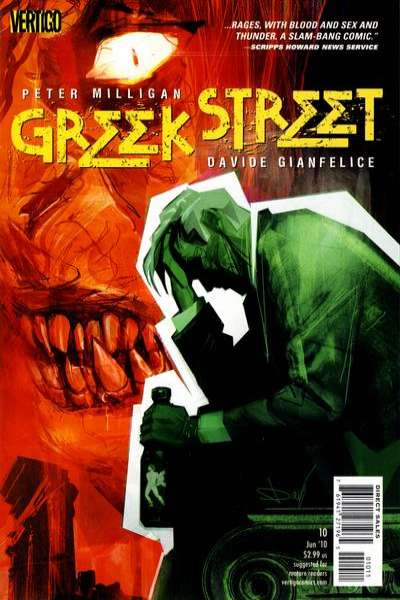 Greek Street #10 comic books - cover scans photos Greek Street #10 comic books - covers, picture gallery