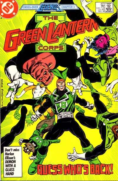 Green Lantern Corps #207 comic books - cover scans photos Green Lantern Corps #207 comic books - covers, picture gallery