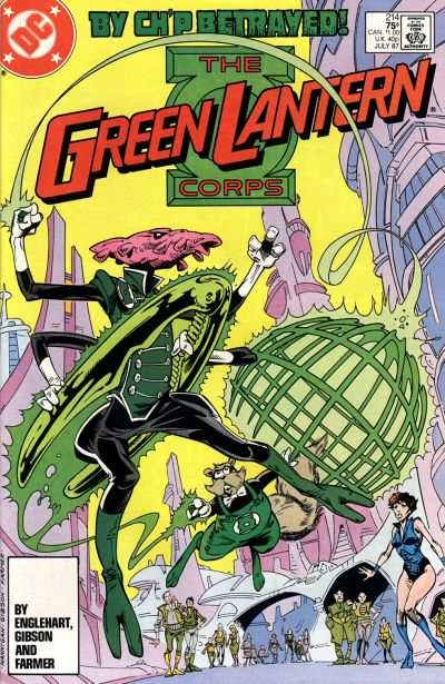 Green Lantern Corps #214 comic books - cover scans photos Green Lantern Corps #214 comic books - covers, picture gallery
