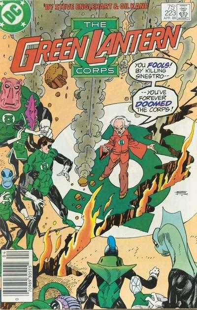 Green Lantern Corps #223 comic books - cover scans photos Green Lantern Corps #223 comic books - covers, picture gallery
