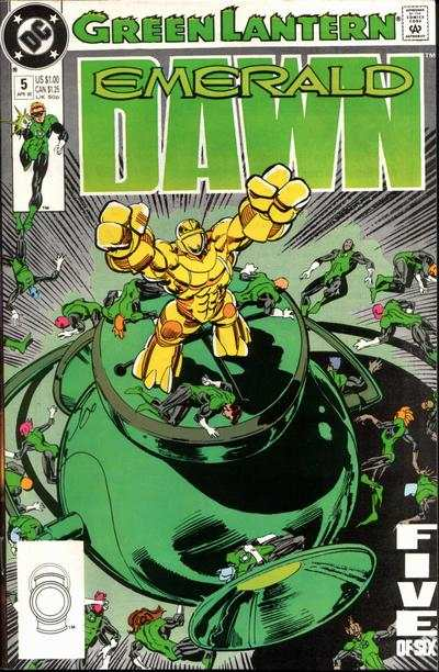 Green Lantern: Emerald Dawn #5 comic books - cover scans photos Green Lantern: Emerald Dawn #5 comic books - covers, picture gallery