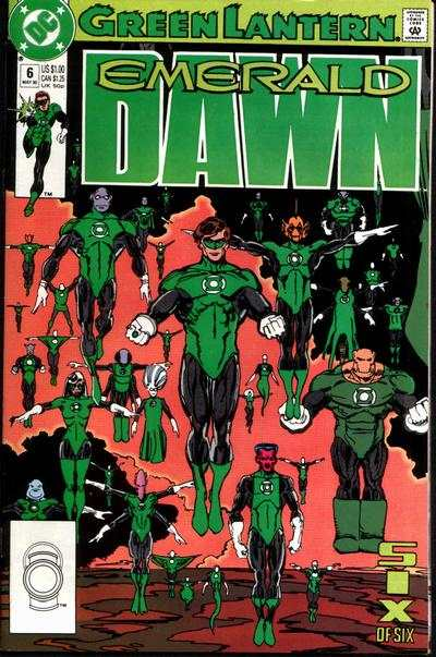 Green Lantern: Emerald Dawn #6 comic books - cover scans photos Green Lantern: Emerald Dawn #6 comic books - covers, picture gallery