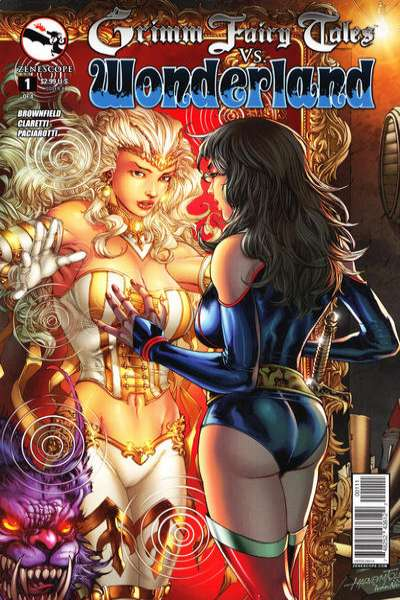 Grimm Fairy Tales vs. Wonderland Comic Books. Grimm Fairy Tales vs. Wonderland Comics.