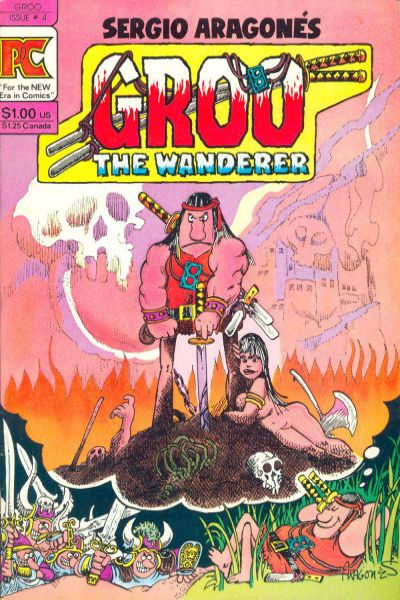 Groo the Wanderer #4 comic books - cover scans photos Groo the Wanderer #4 comic books - covers, picture gallery