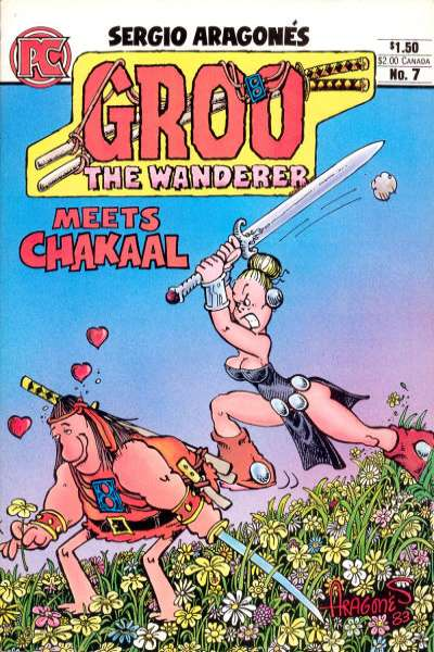 Groo the Wanderer #7 comic books - cover scans photos Groo the Wanderer #7 comic books - covers, picture gallery