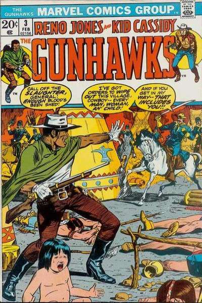 Gunhawks #3 comic books for sale