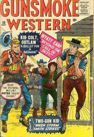 Gunsmoke Western #58 comic books for sale