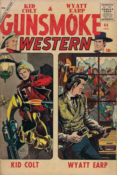 Gunsmoke Western #44 Comic Books - Covers, Scans, Photos  in Gunsmoke Western Comic Books - Covers, Scans, Gallery