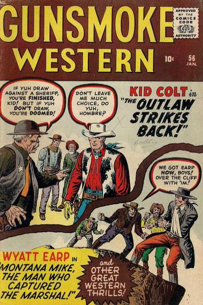 Gunsmoke Western #56 comic books - cover scans photos Gunsmoke Western #56 comic books - covers, picture gallery
