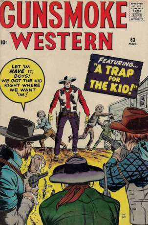 Gunsmoke Western #63 Comic Books - Covers, Scans, Photos  in Gunsmoke Western Comic Books - Covers, Scans, Gallery