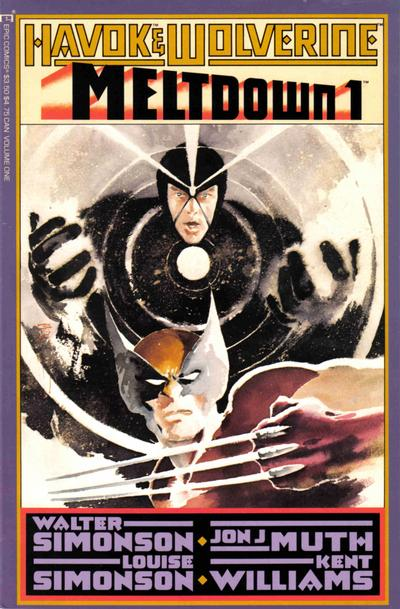 Havok & Wolverine - Meltdown #1 comic books for sale
