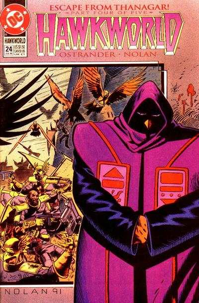 Hawkworld #24 Comic Books - Covers, Scans, Photos  in Hawkworld Comic Books - Covers, Scans, Gallery