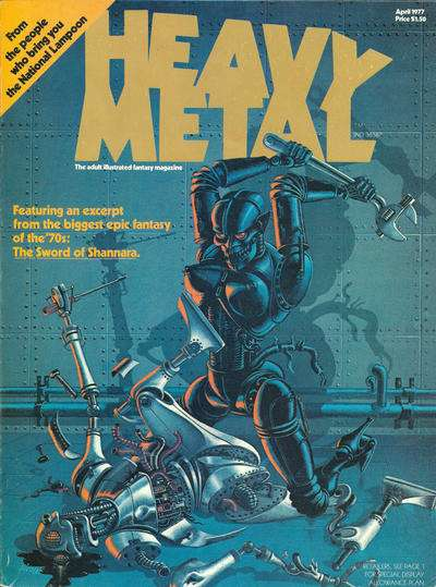 Heavy Metal: Volume 1 #1 comic books - cover scans photos Heavy Metal: Volume 1 #1 comic books - covers, picture gallery