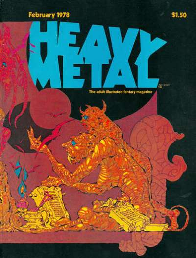 Heavy Metal: Volume 1 #11 comic books - cover scans photos Heavy Metal: Volume 1 #11 comic books - covers, picture gallery