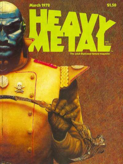 Heavy Metal: Volume 1 #12 comic books - cover scans photos Heavy Metal: Volume 1 #12 comic books - covers, picture gallery