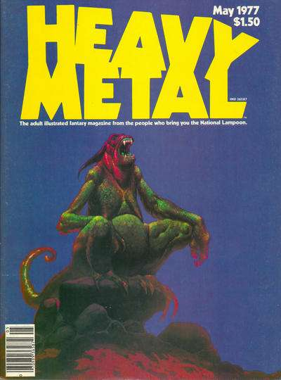 Heavy Metal: Volume 1 #2 comic books - cover scans photos Heavy Metal: Volume 1 #2 comic books - covers, picture gallery