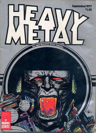 Heavy Metal: Volume 1 #6 comic books - cover scans photos Heavy Metal: Volume 1 #6 comic books - covers, picture gallery