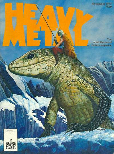Heavy Metal: Volume 1 #8 comic books - cover scans photos Heavy Metal: Volume 1 #8 comic books - covers, picture gallery