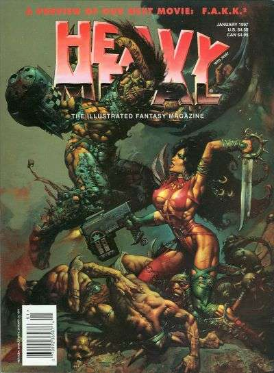 Heavy Metal: Volume 20 #6 comic books - cover scans photos Heavy Metal: Volume 20 #6 comic books - covers, picture gallery