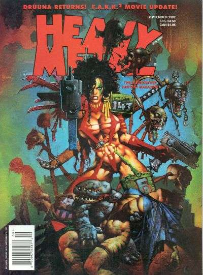 Heavy Metal: Volume 21 #4 comic books - cover scans photos Heavy Metal: Volume 21 #4 comic books - covers, picture gallery