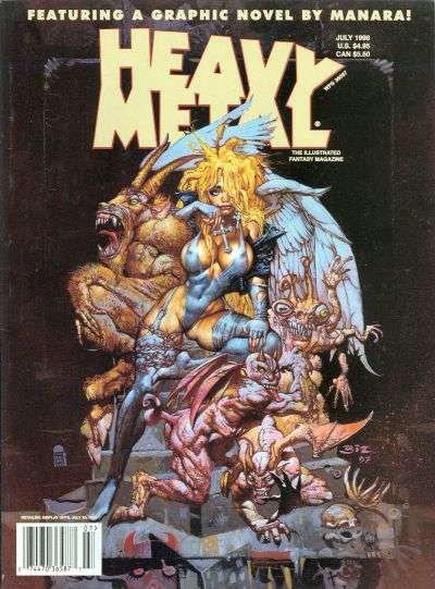 Heavy Metal: Volume 22 #3 comic books - cover scans photos Heavy Metal: Volume 22 #3 comic books - covers, picture gallery