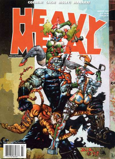 Heavy Metal: Volume 23 #1 comic books - cover scans photos Heavy Metal: Volume 23 #1 comic books - covers, picture gallery